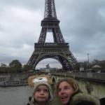 Avec Maman, la tour Eiffel et la Seine